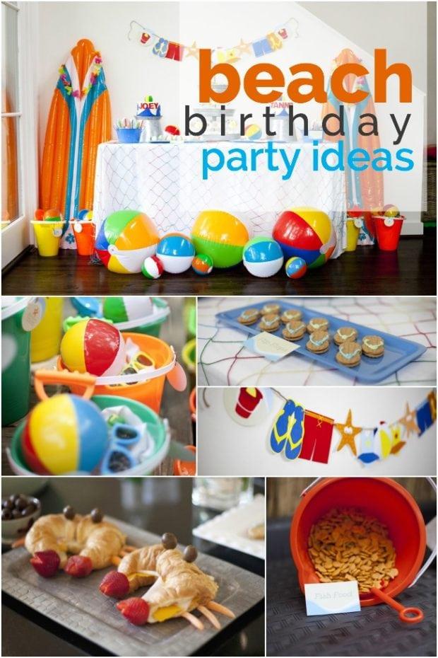 Boys Beach Themed Birthday Party Idea