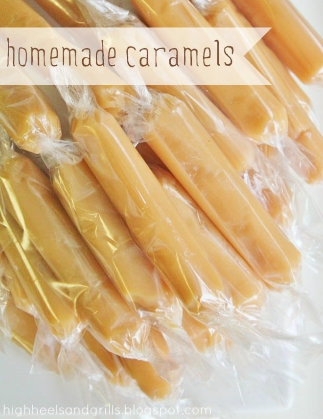 Homemade Caramels are delicious