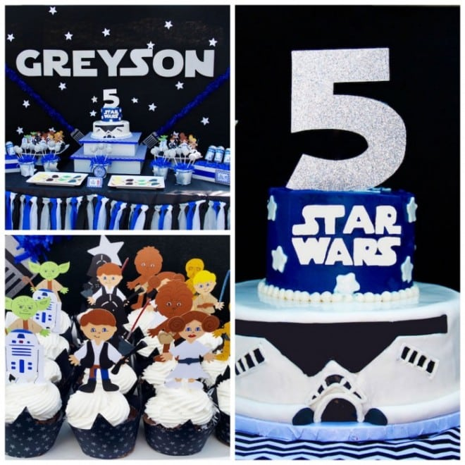 Boy's Star Wars Themed Birthday Party Ideas