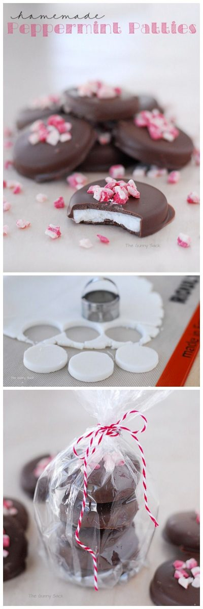 You can make these Homemade Peppermint Patties for your next Christmas party!