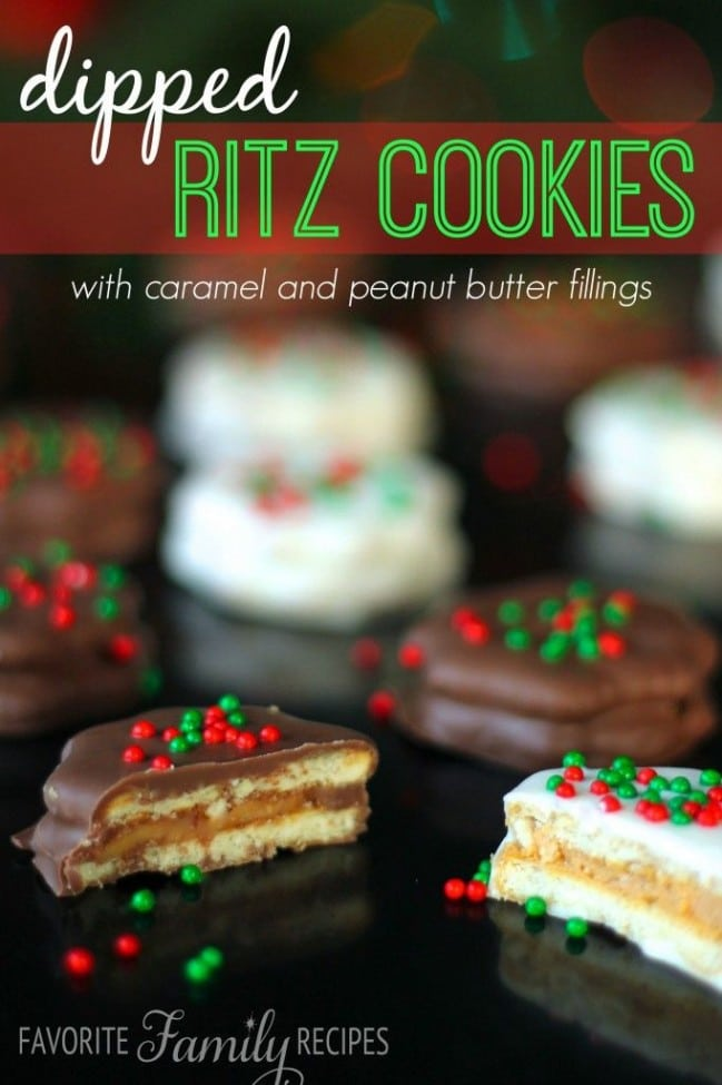 Dipped Ritz Cookies