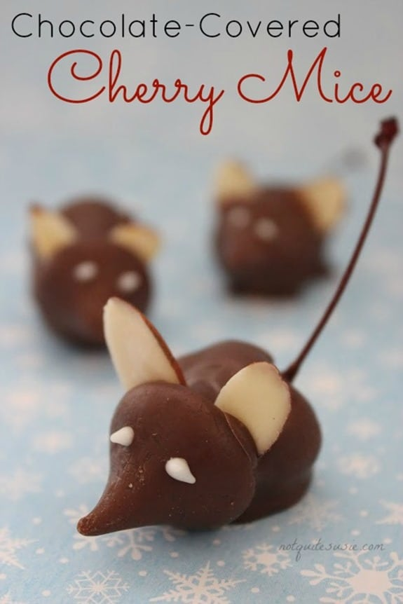 Chocolate-Covered Cherry Mice are adorable