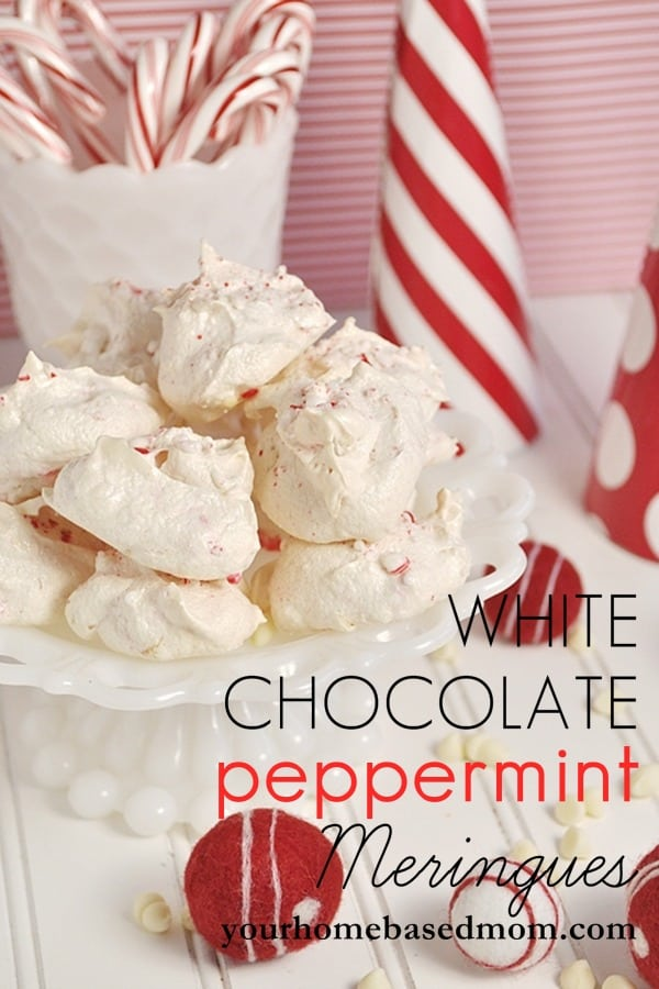 White Chocolate Peppermint Meringues are likely perfect, delicious snowballs