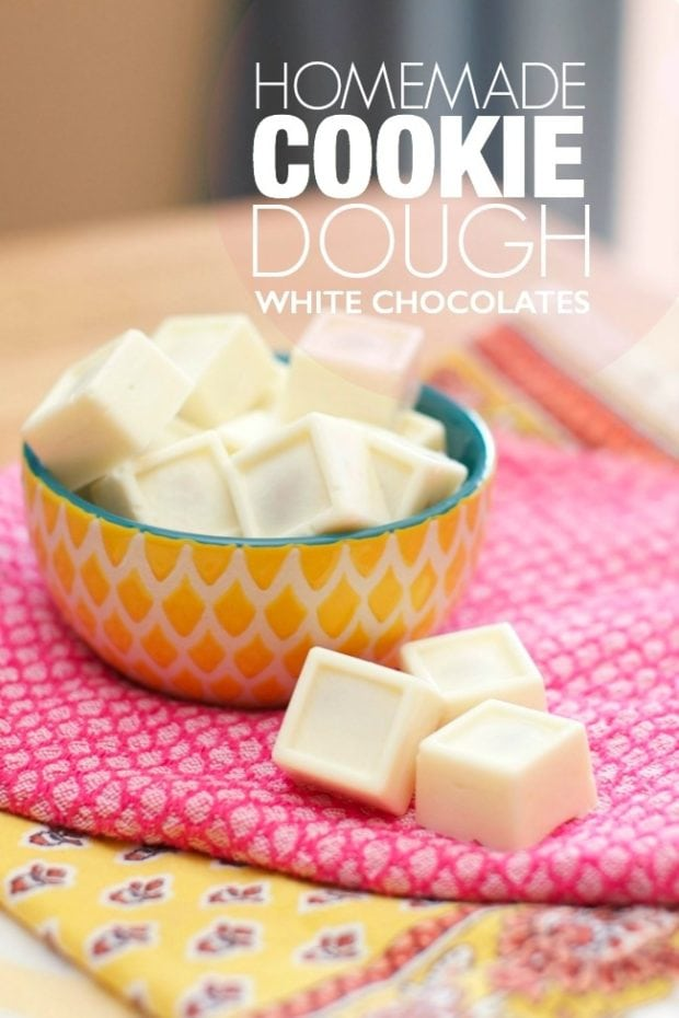 3 Homemade Cookie Dough White Chocolates