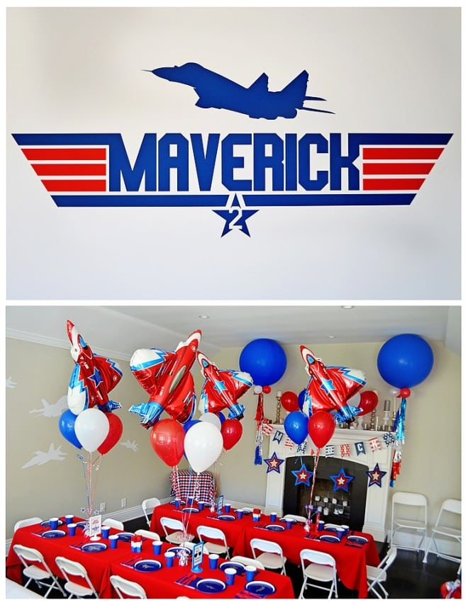 Boy's Top Gun Birthday Party Ideas