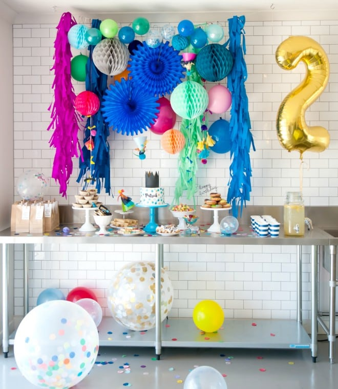 Boy's Colorful Birthday Party Ideas