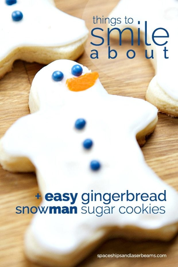 Easy Gingerbread Snowman Sugar Cookies