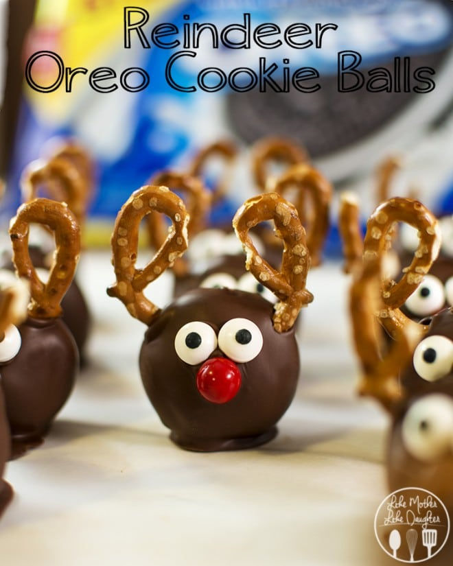 Reindeer Oreo Cookie Balls are the cutest Christmas treats ever.
