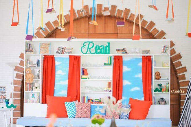 Boy's Bookworm Themed Birthday Party