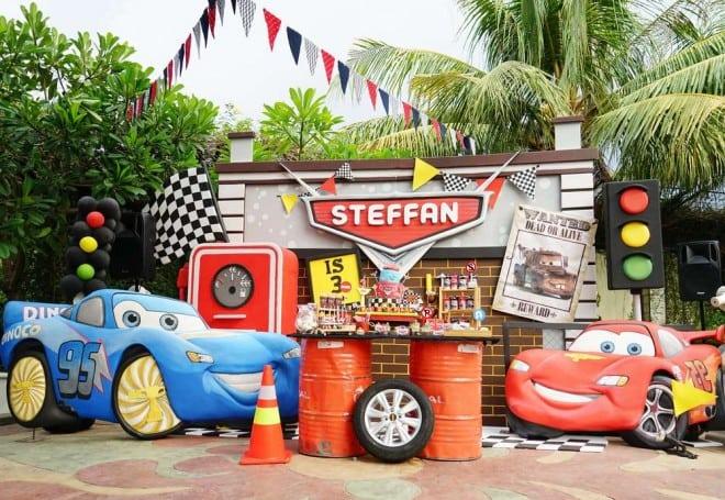 boys car themed birthday party ideas