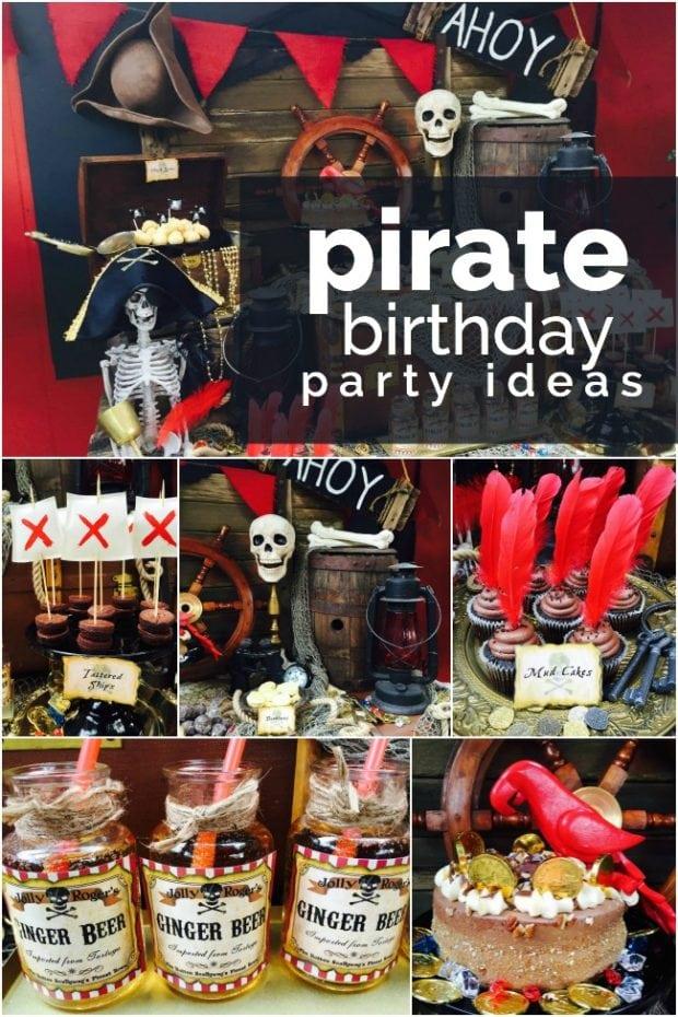 Classic Pirate Boy Birthday Party Idea