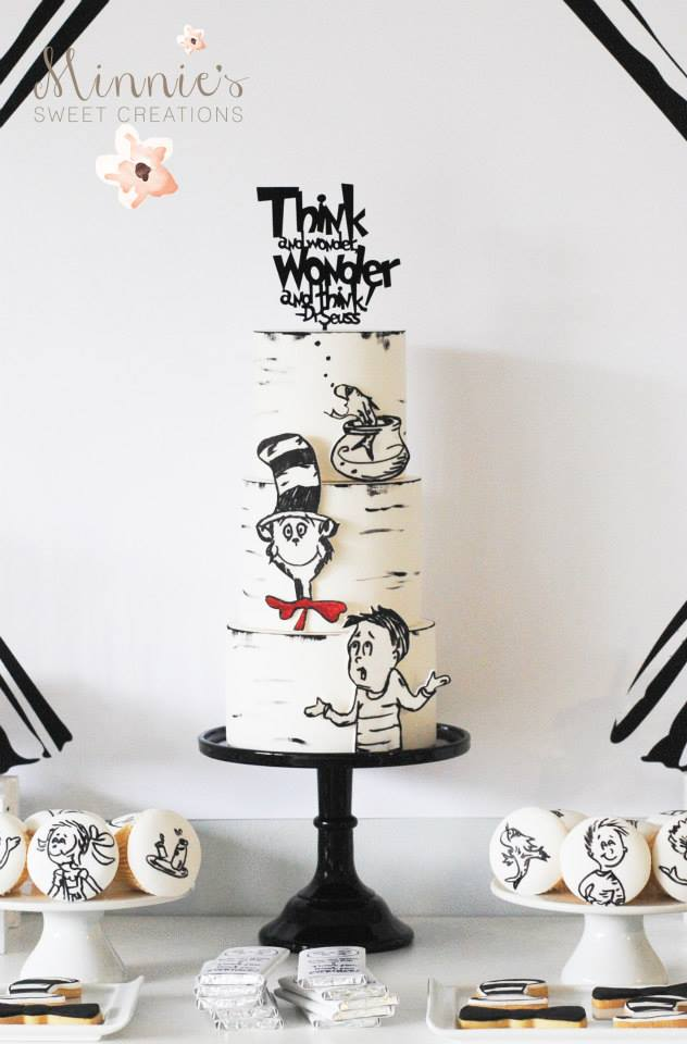 Boys Cat in the Hat Birthday Cake Idea
