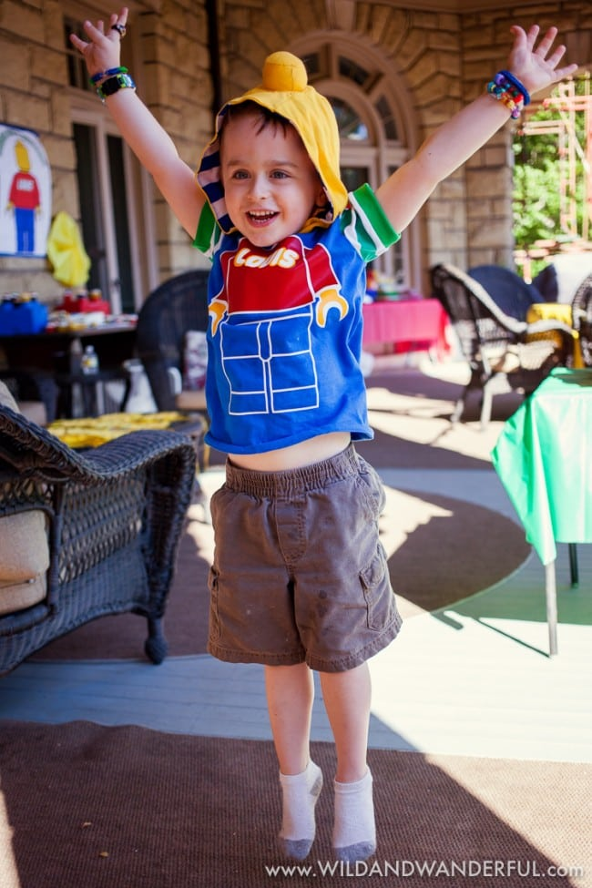Boys Lego Birthday Party Clothing Dress up ideas