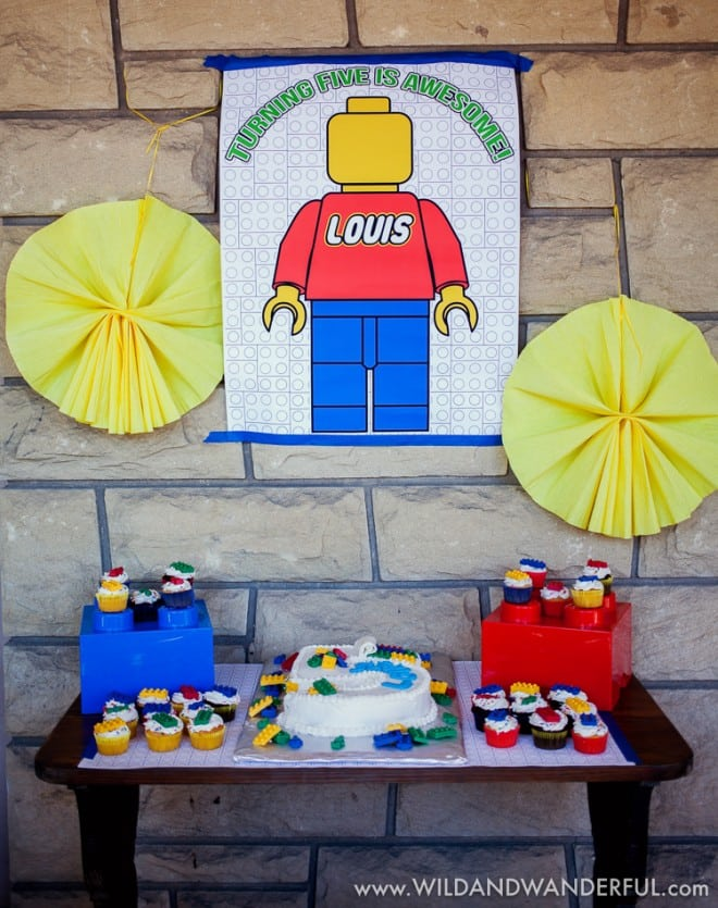 Boys Lego Birthday Party Dessert Table Ideas