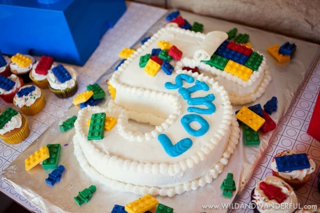 Boys Lego Party Cake Food Ideas