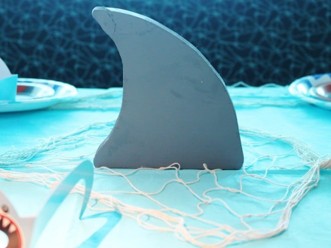Boys Shark Birthday Party Centerpiece Ideas