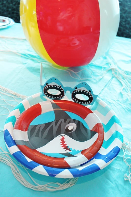 Boys Shark Birthday Party Table Ideas