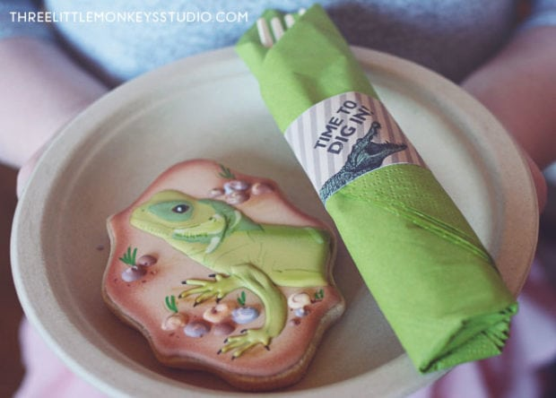 Boys reptiles-amphibians-birthday-party-napkin rings
