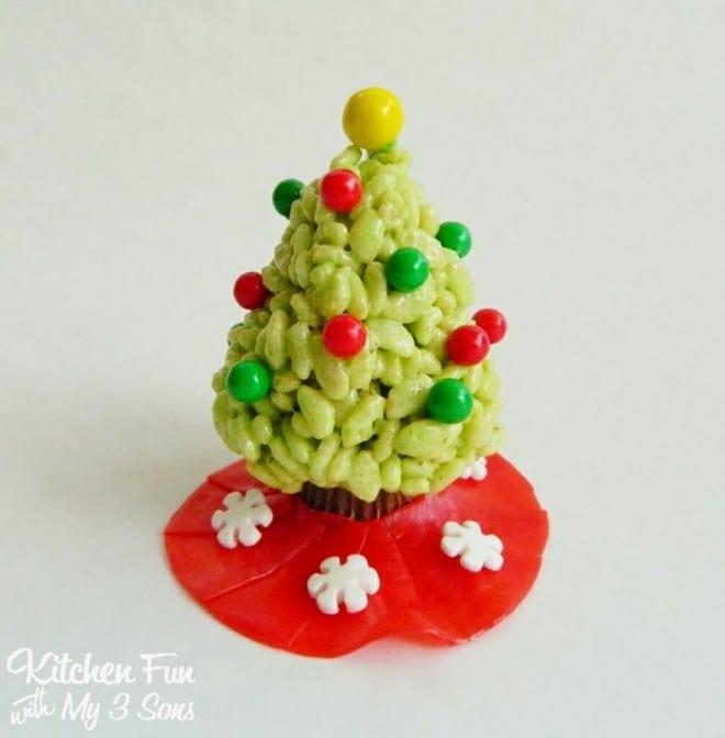 Christmas Rice Krispie Treat Trees