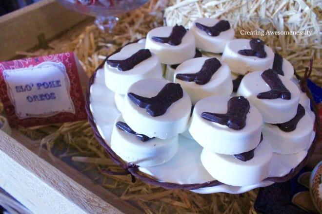 Cowboy Western Themed Birthday Party Food Oreo Idea