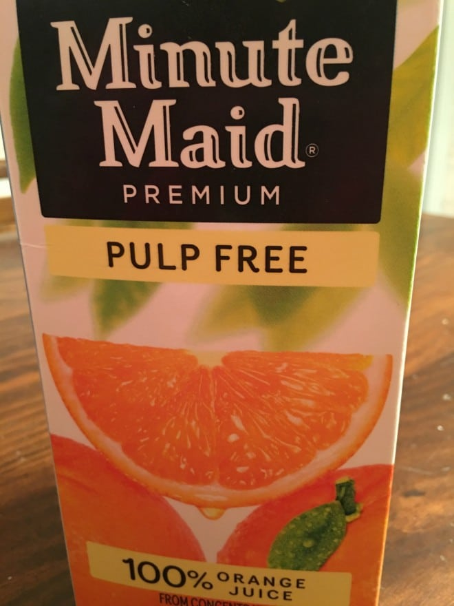 Minute Maid Pulp Free