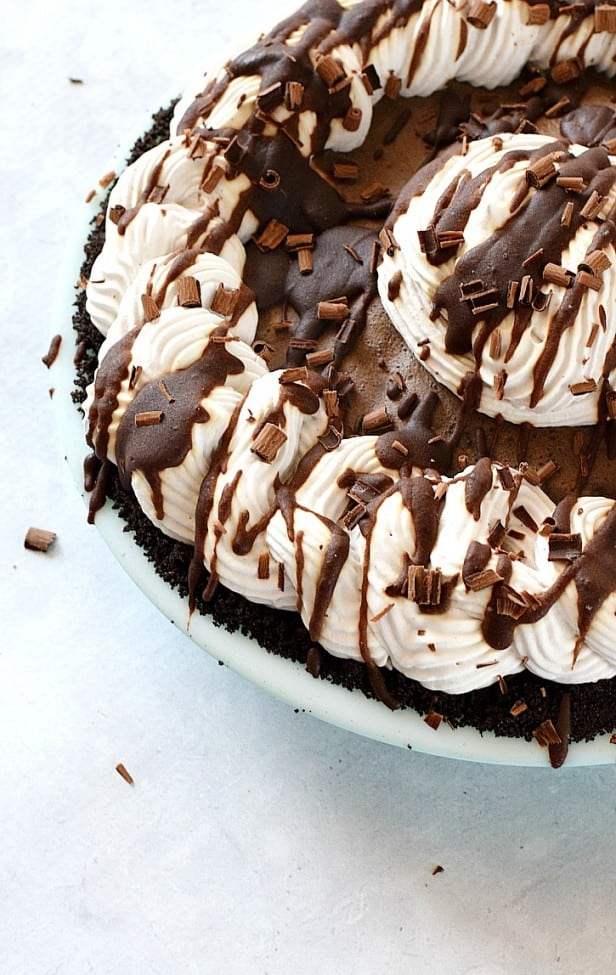 Mocha Almond Fudge Truffle Pie