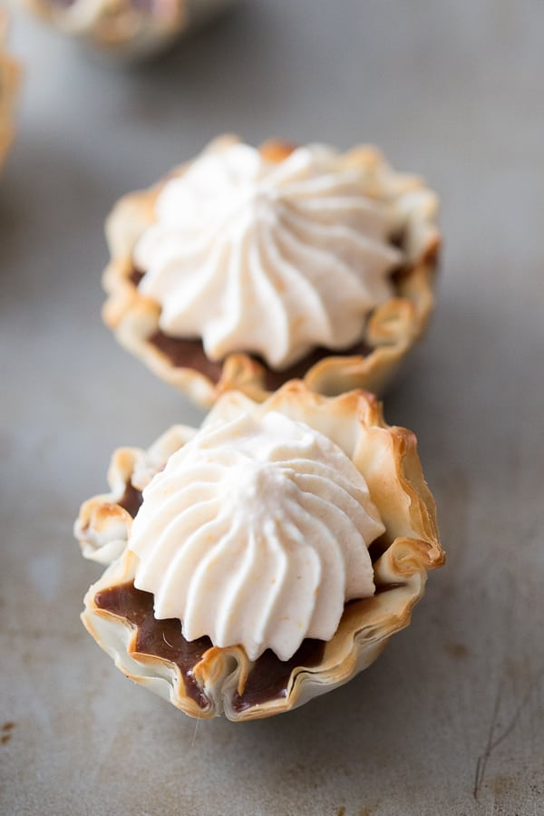 Mini Nutella No Bake Pies with Pumpkin Whipped Cream