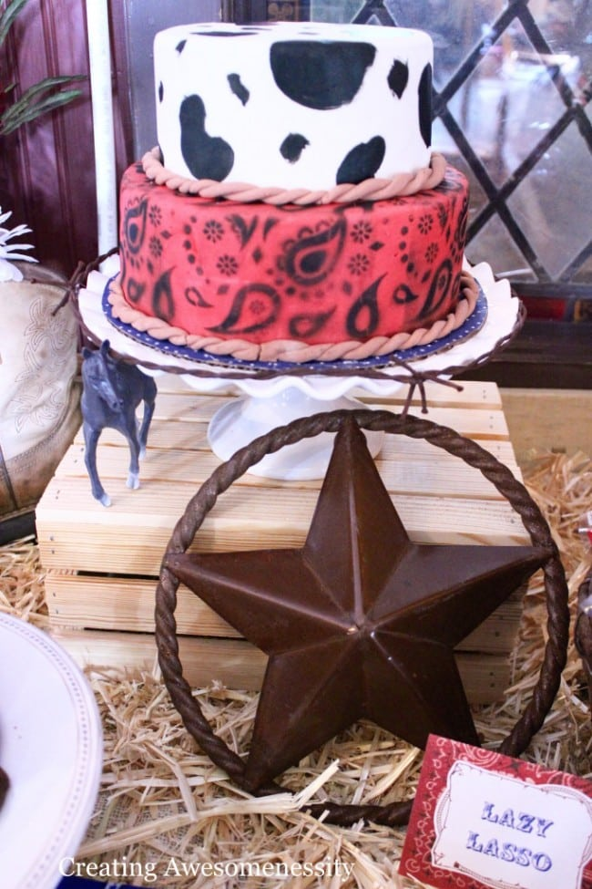 Western Themed Cake Party Food Ideas