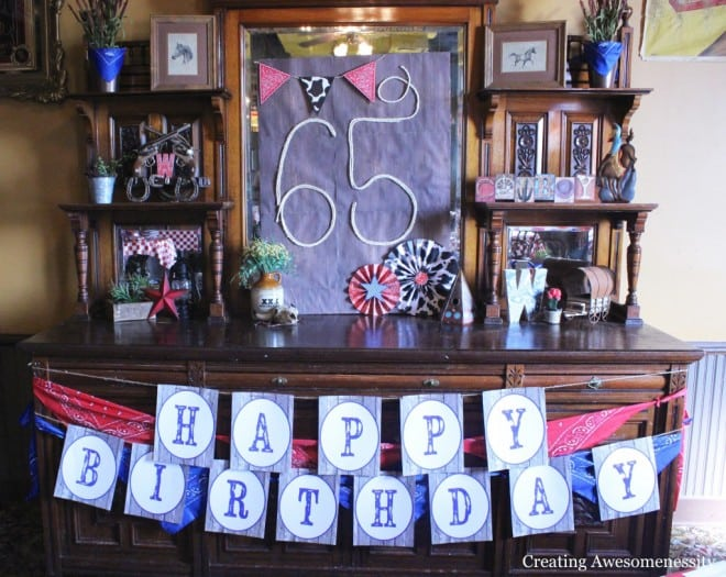 Western Themed Cowboy Birthday Party Dessert Table Ideas