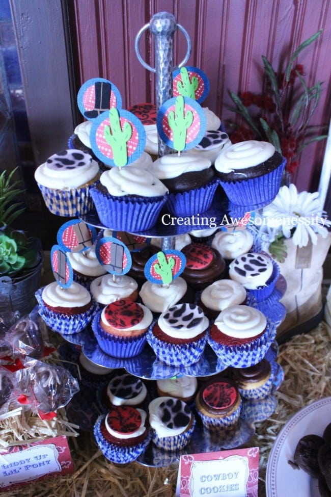 Western Themed Cowboy Cupcake Party Food Ideas
