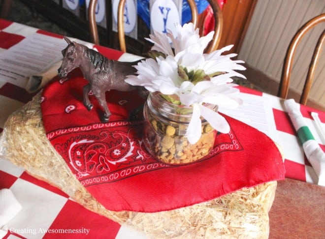 Western Themed Cowboy Party Table Decoration Ideas