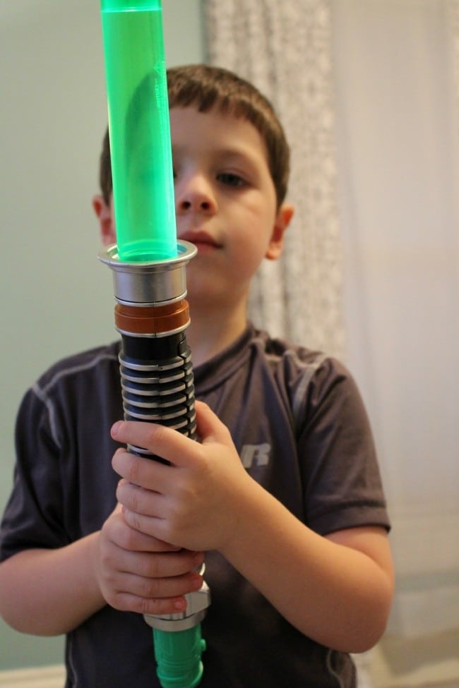 Zane with Light Saber