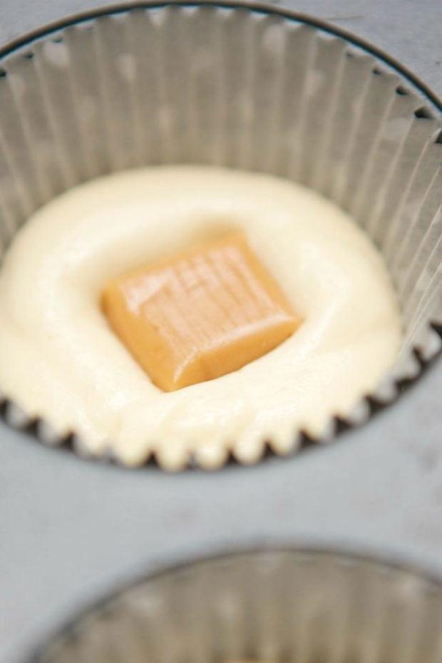Caramel Cashew Cupcake