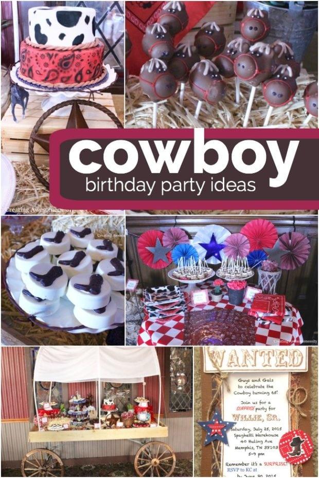 A Kickin Cowboy Birthday Party Spaceships And Laser Beams