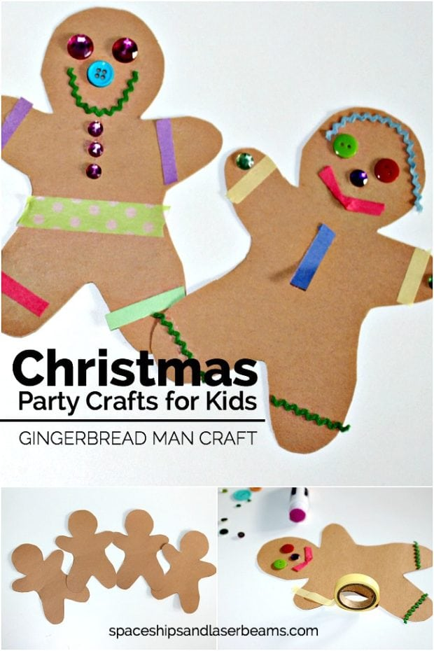 Gingerbread man craft spaceships and laser beams for Craft projects for guys