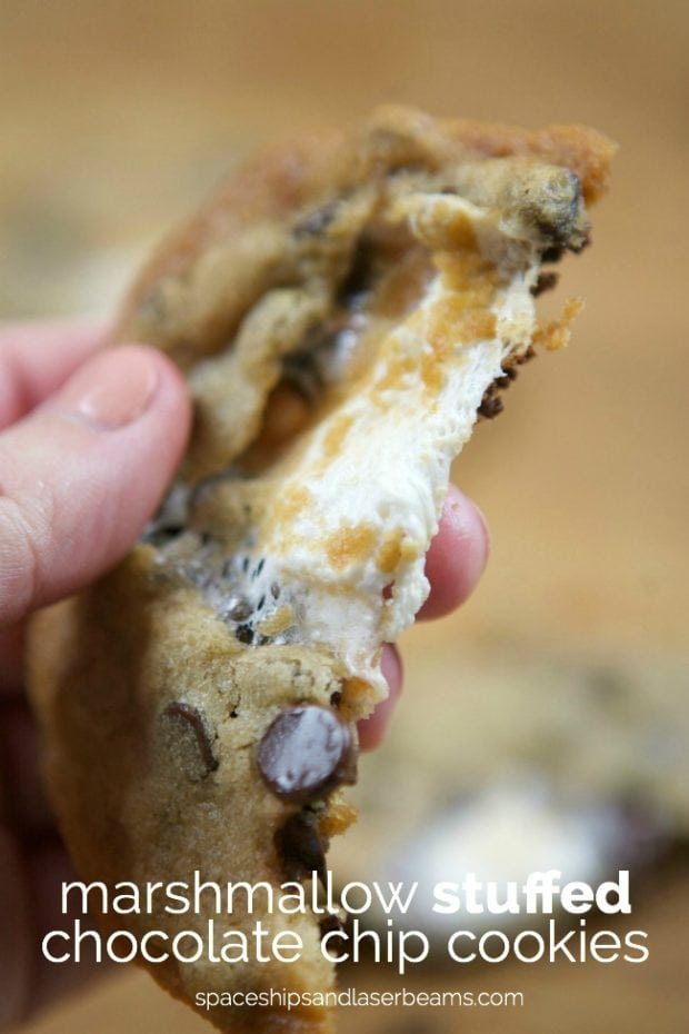 Marshmallow Stuffed Chocolate Chip Cookies