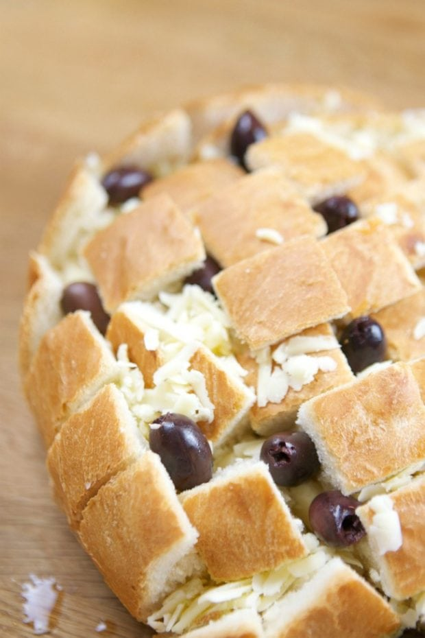 Olive Cheddar Pull Apart Bread