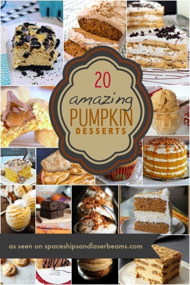 20 Amazing Pumpkin Desserts