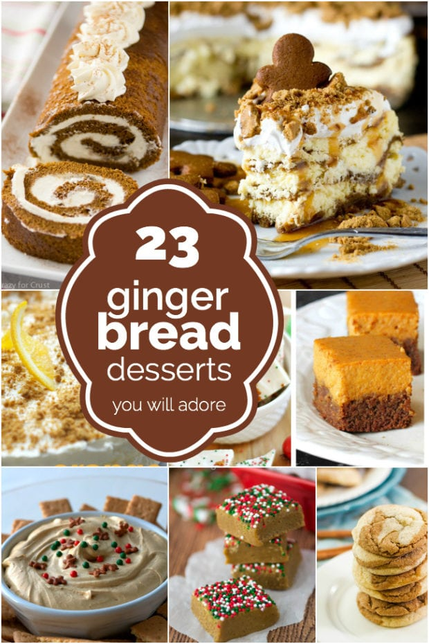 Gingerbread and Gingersnap Desserts
