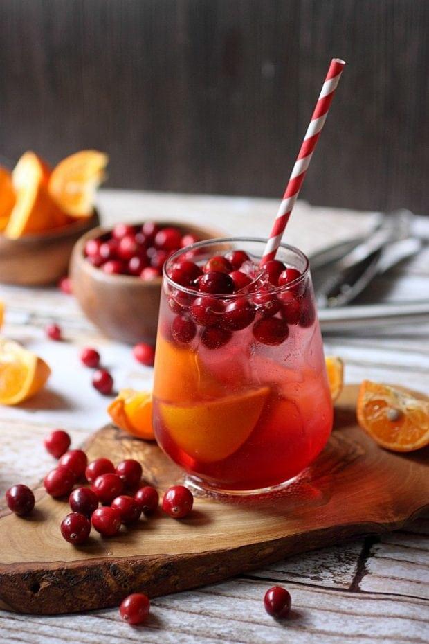 Cranberry Tangerine Fizzy Drink