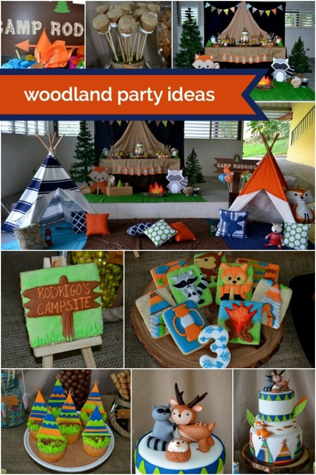 Woodland Birthday Party Ideas for Boys