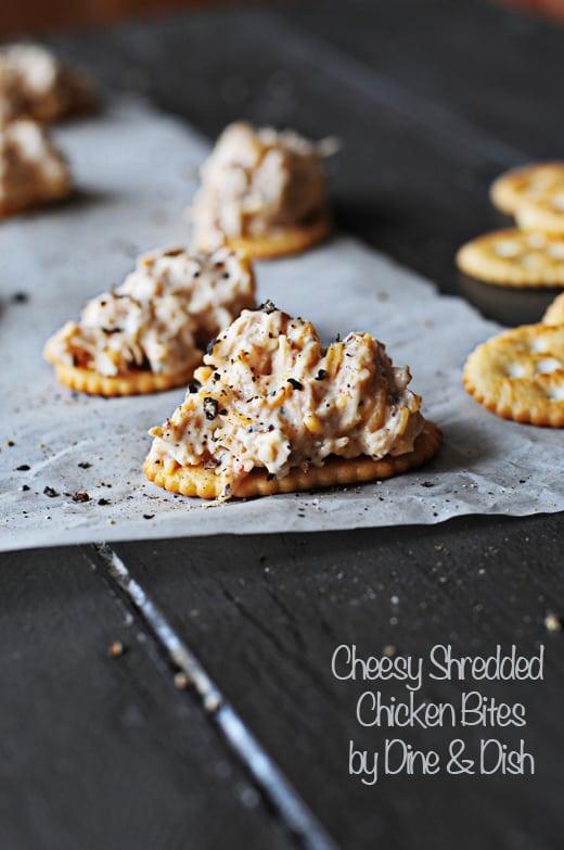 Cheesy Shredded Chicken Bites