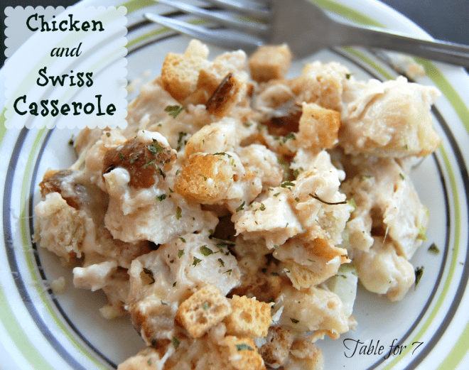 Chicken and Swiss Casserole