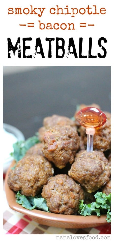 Smoky Chipotle Bacon Meatballs