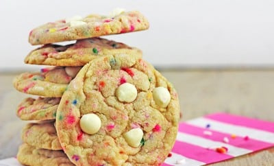 Birthday Cake Batter Cookies