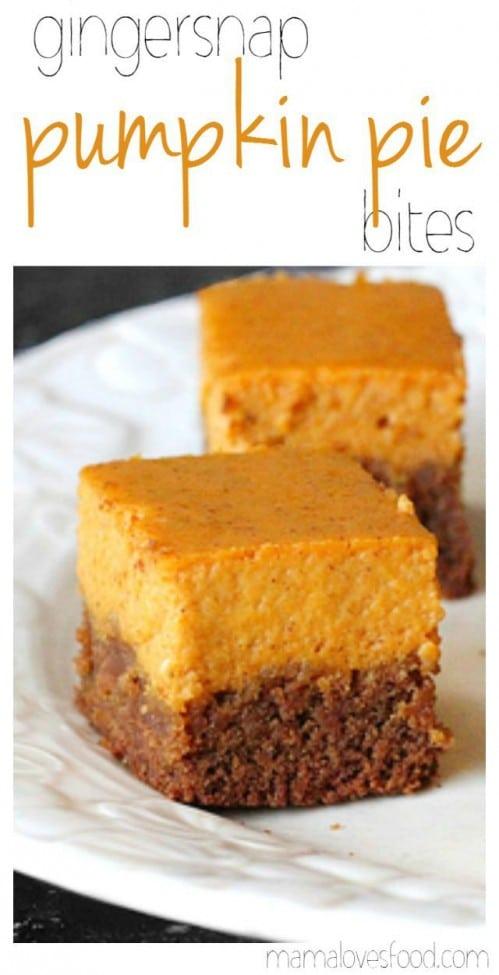 Gingersnap Pumpkin Pie Bites Recipe