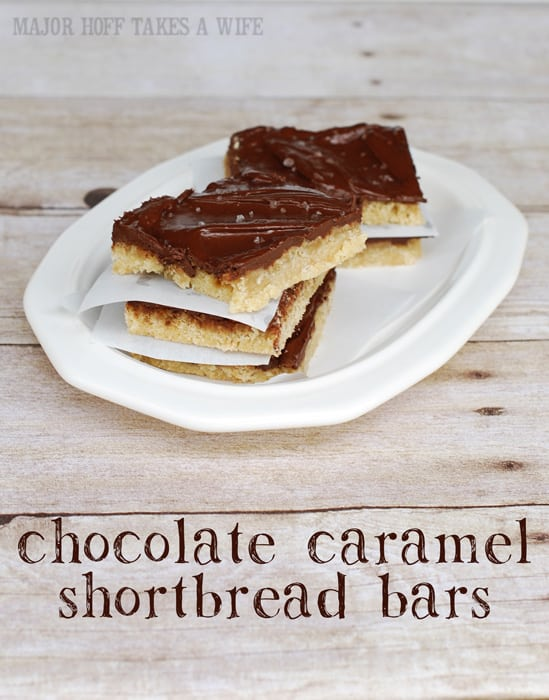 15 Salted Caramel Chocolate Shortbread Squares