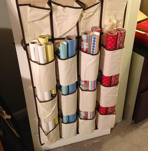 Wrapping Paper Shoe Rack