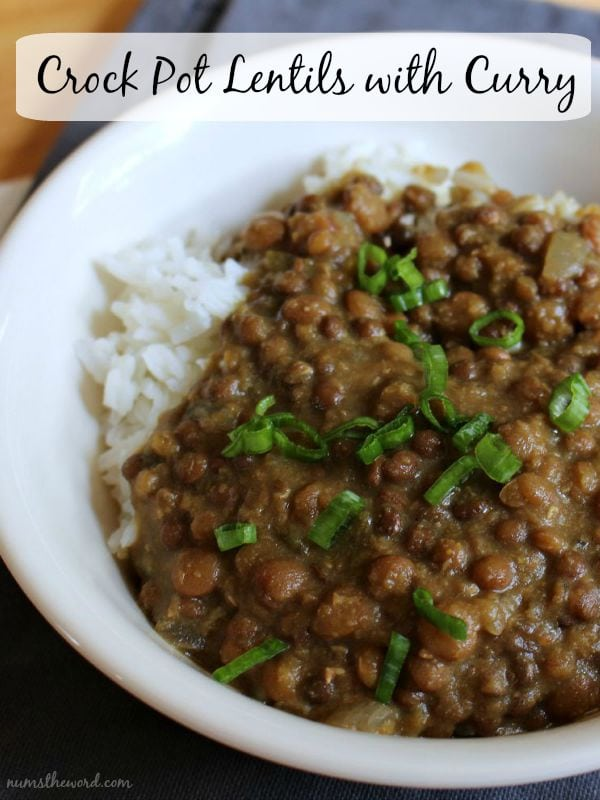 Crockpot Lentils With Curry