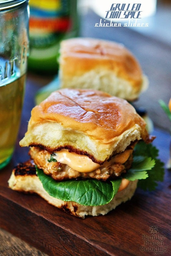 Grilled Thai Spice Chicken Sliders